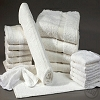 Wash Cloths, Economical, 100% Cotton, Cam Border, 12 inch x 12 inch, White 0.75 Lb/Dz  Price Dozen, Sold by the case Only.