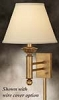 Single Wall Lamp with Electrical Outlet, French Gold-18