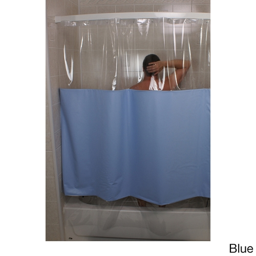 Shower Curtains can you wash plastic shower curtains : Rujan Peek-A-Boo Standard Hang Shower Curtain, Solid Color w ...