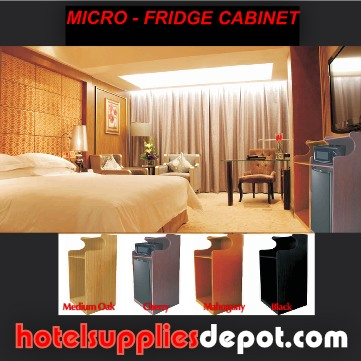 In-Room Microwave Refrigerator/Cabinet Combo