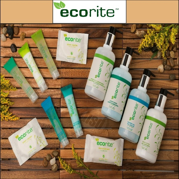 Hotel- Ecorite Green Collection, 20gm. Facial Bar (clear frosted sachet) 288/case (as low as $ 42.96, 3cs+)