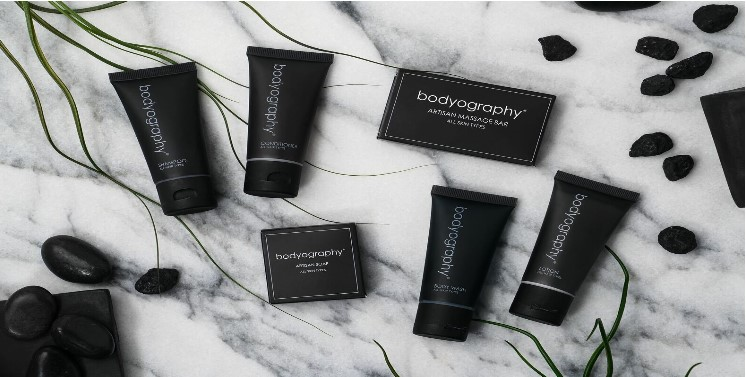 BODYOGRAPHY Collection. Infused with soothing lavender and pepermint.