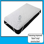 3 Ply QUILTED WATERPROOF MATTRESS PADS, with ANCHOR BANDS, White-Twin 39 x 75
