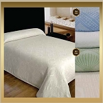 Hotel Nursing Home AVALON: Jacquard Bedspreads, 65% Cotton/35% Polyester, Twin  80x116