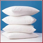 NEW item: FRENCH FOLD ENVELOPE STYLE (NO ZIPPERS) Pillow Covers, 180 TC, Blend, White-Standard 21x27