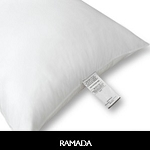 Hotel-Ramada Inn Pillow, 100% Polyester CLUSTER FIBER, JUMBO, 28oz fill., (Case of 10)