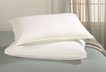 TRI-COMPARTMENTED - MED/FIRM Down & Feather Sleeping Pillow Upside of Down™, 230 Tc, Standard, by Down Inc.