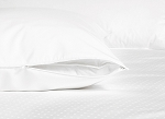Zippered Pillow Protector - 100% Cotton Shell, 230 Thread count, Plain Weave Standard, 20