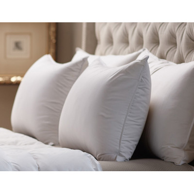 by Down Inc. LUXURY-MEDIUM FIRM SNOW WHITE DOWN™, 330 thread count  SLEEPING PILLOW, Made to order in USA.