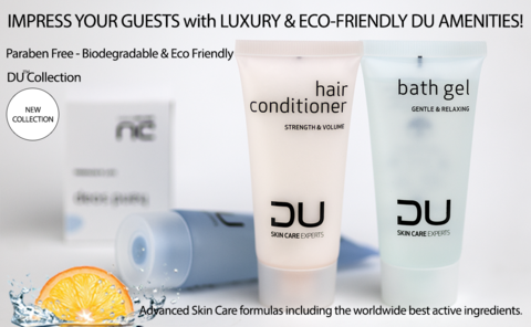 DU (Swiss Formulation) Hotel SHOWER GEL-rendering the hair beautiful and shiny, 1.41 oz/40ml., 300/case (as low as $ 0.266 each)