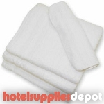 Economy 10's Hotel Wash Cloths, 0.75 lb/dz, 12x12