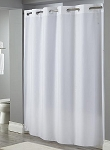 Hookless EMBOSSED MOIRE, 100% Polyester Shower Curtain, 71x74