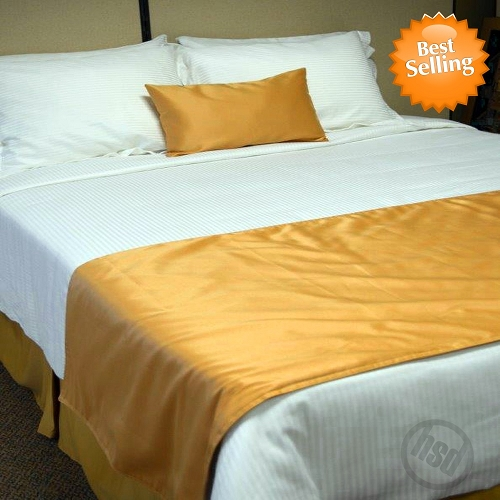 Hotel Self Lined Bed Runners Scarfs 100 Micro Polyester