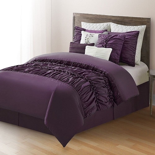 Merveilleux 10 Piece Comforter Set Bed In A Bag Bedding QUEEN Size, (PLUM) Home  Quality, ...