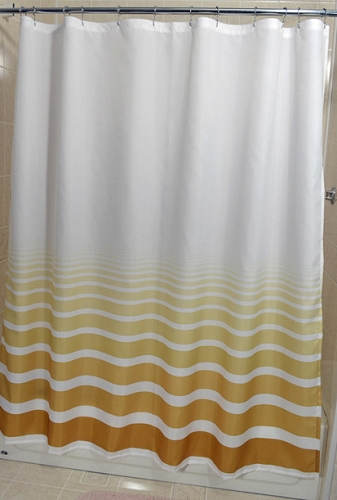 Rujan Horizon Polyester Shower Curtain Lines Faded