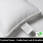 COMFOREL GUSSET, CLUSTER FIBER PILLOW, 100% Cotton, T-230 Ticking. Standard, 22oz, Case of 12.