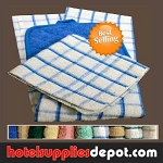 Dish Cloths-Check Pattern-100% Ringspun Cotton 12x12