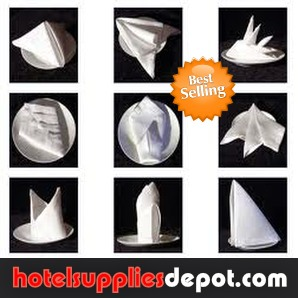 Hotel, Restaurant, Party Rentals-Table Napkins, 100% Spun Polyester, 20