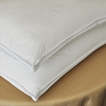 FIRM FILLED Hotel PILOW- Down Alternative Microfiber Satin Stripe Fabric-King 36oz. Set of 2
