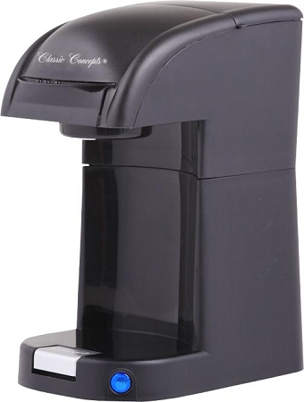 Classic coffee concepts 1 cup pod coffee maker brews pod for Small apartment coffee maker