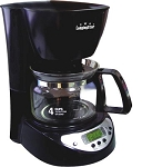 Commercial 4-Cup Coffee Maker, anti-drip valve, with Auto Shut Off
