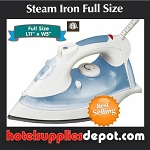 Hotel/Motel Auto Shut Off Steam Iron-Full size, non-stick plate,11x5x6