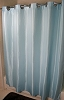Rujan Peek-A-Boo CHEVRON Style Polyester Shower Curtain, Blue 72x74