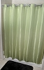 Rujan Peek-A-Boo CHEVRON Style Polyester Shower Curtain, OLIVE 72x74