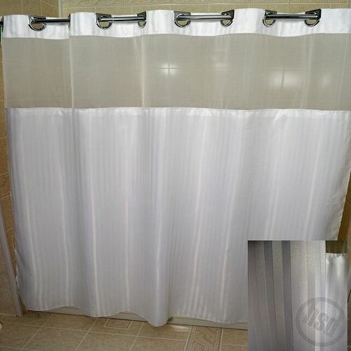 rujan peek a boo herringbone polyester shower curtain see