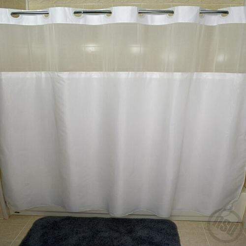RuJan Peek-A-Boo MOIRE Style Polyester Shower Curtain, See-Thru ...