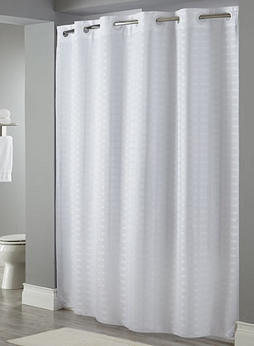 Litchfield Stall Size 100 Polyester Shower Curtain 42x74 White