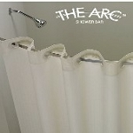 THE ARC FLAT Hotel Curved Shower Bar/Rod, 5 Ft/60 Inches, BRUSH Finish. Gives more elbow room (low as $26.50 ea)