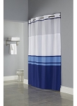 BLUE Hookless® BROOKS, Shower Curtain with It's A Snap!® liner, 100% polyester 71