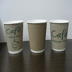 HEAVY DUTY 9 oz. RIPPLE-WALL INSULATED HOT CUPS. Individually Wrapped, 900 Ct.