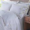 Hotel Casino 300 Tc 100% COMBED Cotton Sateen White  Pillow Cases, Standard - 42 x 36