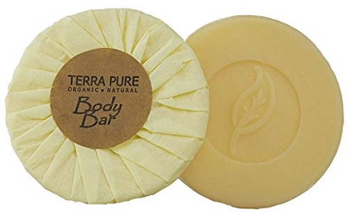 TERRA PURE-Green Tea SPA Hotel BODY BAR, 1.25 Oz./35 g, Aloe Vera and Palm Oil Recycled Paper, Tissue Pleat (Case of 350) Low as $ 81.46 Cs./$0.232 ea