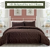 Coffee Brown-Luxury Queen Size 3-piece Cotton Quilt Bedspread Set, Puff Design, Starting at $40.50 each