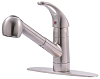 Ultra Faucets UF12500 Aerated Single-Handle Kitchen Faucet with Pull-Out Spray, Chrome (low as $71.90)