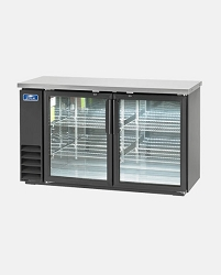 ARCTIC AIR: ABB60G: GLASS BACK BAR REFRIGERATOR - TWO DOOR 60