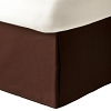 UPSCALE Hotel-Resort SHANTUNG BED SKIRT, Chocolate Brown, No ironing required, KING 78 x 80