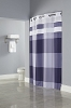 BLUE Hookless® DEVAN, Shower Curtain with It's A Snap!® liner, 100% polyester 71