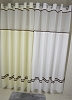 Hookless ESCAPE, Shower Curtain top View and A Snap liner, 100% polyester 72