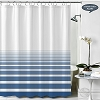NEW RuJan HORIZON Polyester Shower Curtain, (Lines faded horizontally) Color: AQUIFER  70x72