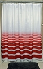 NEW RuJan HORIZON Polyester Shower Curtain, (Lines faded horizontally) Color: POMPEIAN RED  70x72