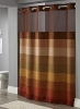 By the case, STRATUS-BRONZE HOTEL HOOKLESS Polyester Shower curtain w-Snap liner, 71x77