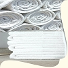 Wash Cloths, Hotel/Motel Economical, 100% Cotton, Cam Border, 12 inch x 12 inch, White 0.75 Lb/Dz  Price per Dozen.