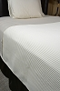 HOTEL SUPREME WAFFLE-Top of the Bed Third Sheet -Coverlet/Blanket , TWIN (Low as $31.95, 12 or more)