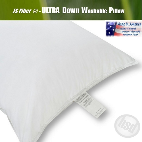 JS Fiber® Ultra Down Hotel Washable Pillow, hypo-allergenic properties, Set of 2 Standard Plump, 36 oz fill (low as $36.785ea)