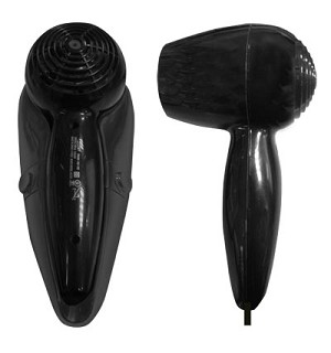 Lodging Star Hotel -Motel Wall Mount Hair Dryer, 1500 Watts, Auto Shut Off, ALCI Plug, BLACK, Staring at $16.00 Each