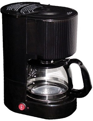 Hotel/Motel 4-CUP COFFEE MAKER, 1 hour auto shut-off, pause and serve, Black, Price each (low as $14.73 ea)